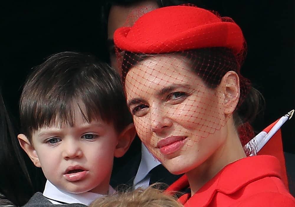 Шарлотта Казираги с сыном Рафаэлем