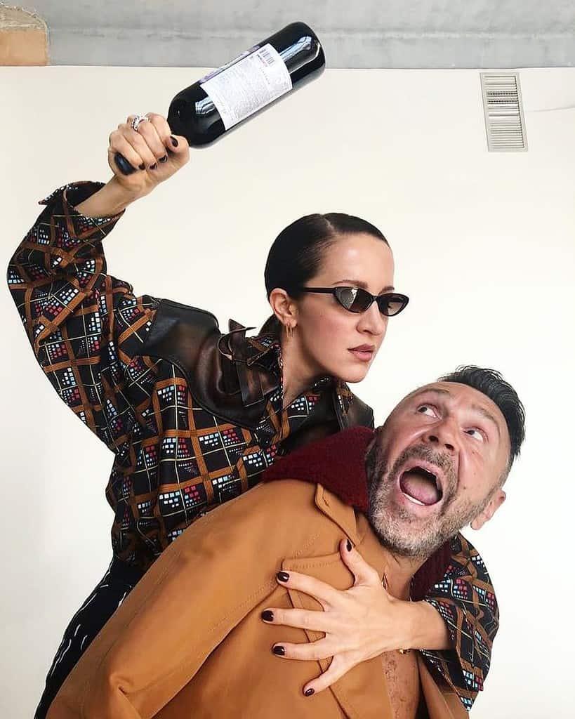 Сергей Шнуров и его жена Матильда