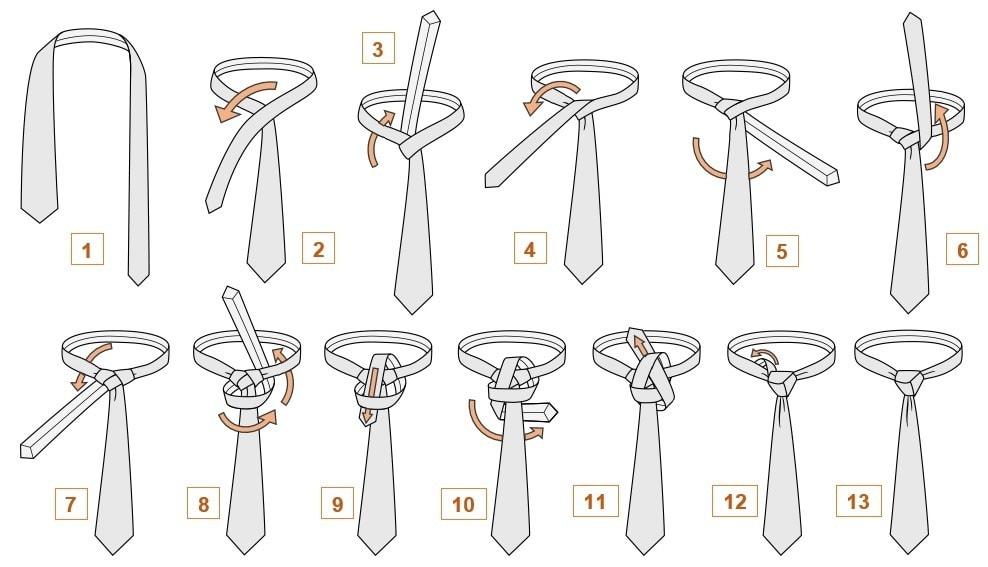 15 лучших способов как завязать галстук