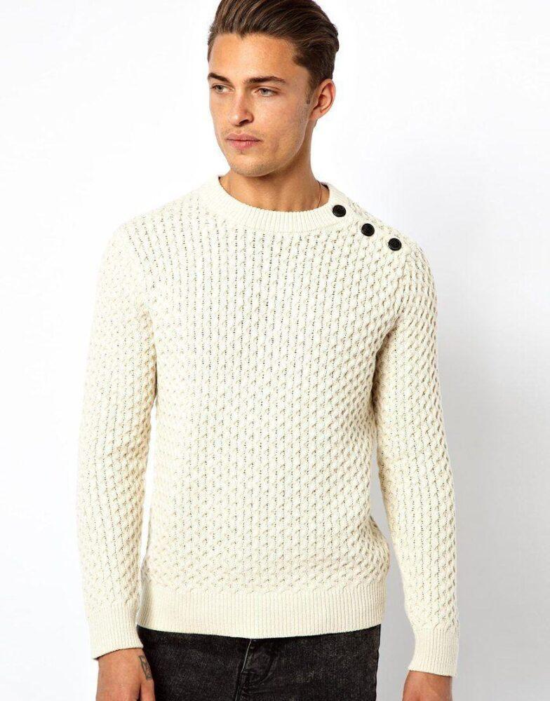 свитер с застежкой
