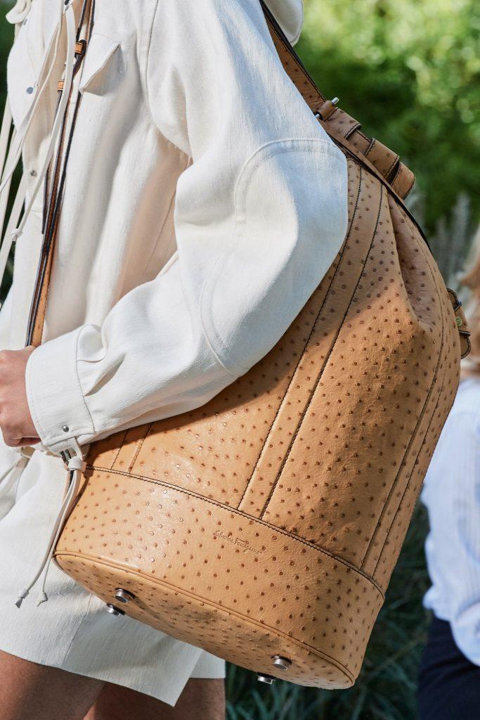 Мужская кожаная сумка, Salvatore Ferragamo, Неделя моды в Милане 2019