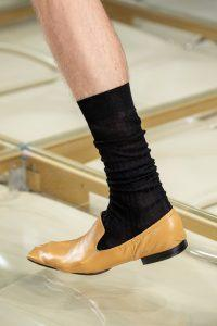 Кожаные мужские туфли, Bottega Venetta, Миланская неделя моды 2019