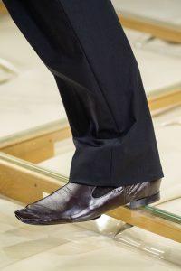Кожаные туфли, квадратный нос, Неделя моды в милане 2019, Bottega Veneta