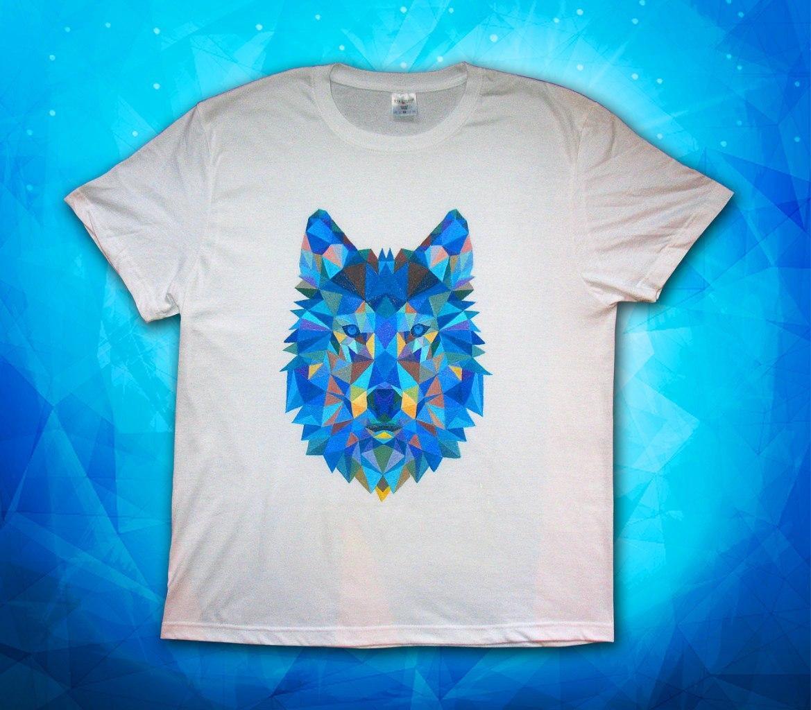 футболка с красками