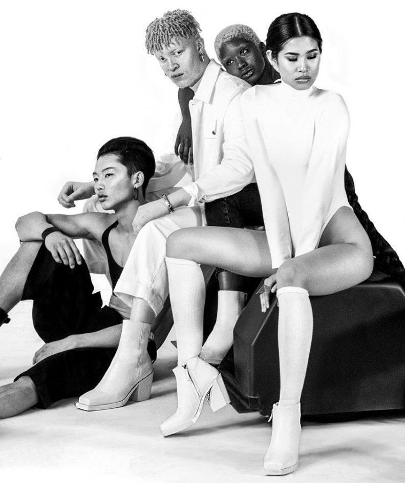 United Nude, Шон Росс, белые ботинки, каблук, унисекс