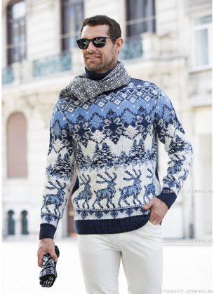 Мужской норвежский свитер 0901