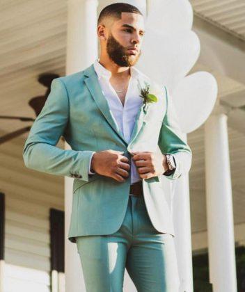 мятный костюм