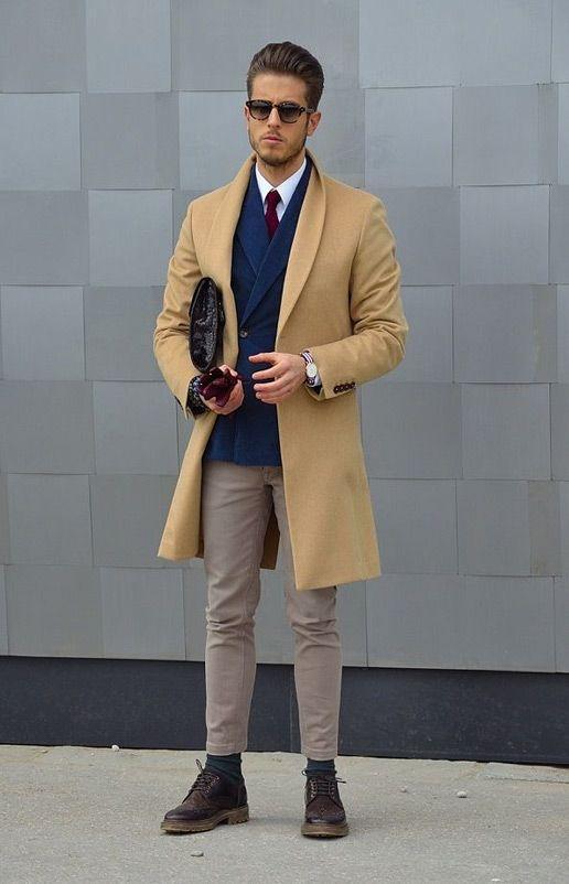 пальто под синий костюм