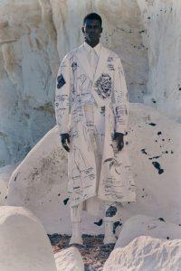 Alexander McQueen необычный наряд2021