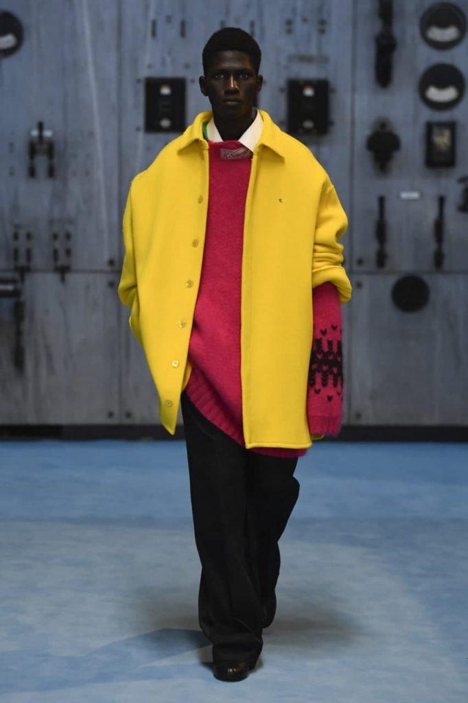 желтый кардиган Raf Simons-2022