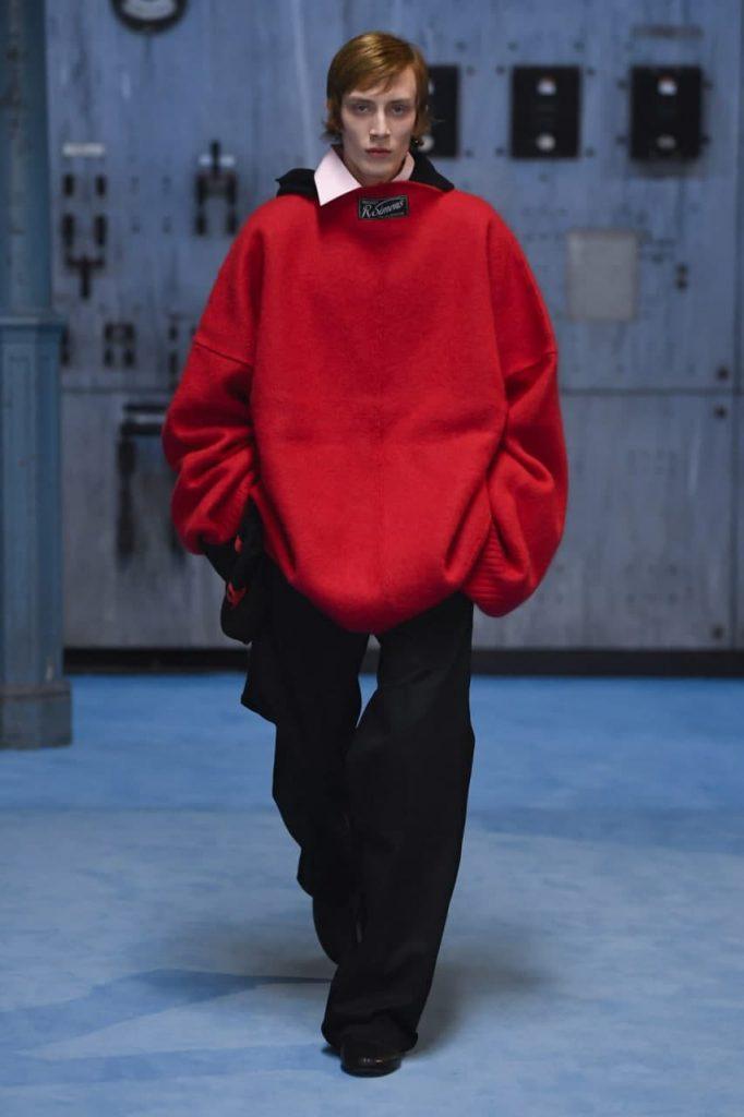 красный свитер Raf Simons-2022